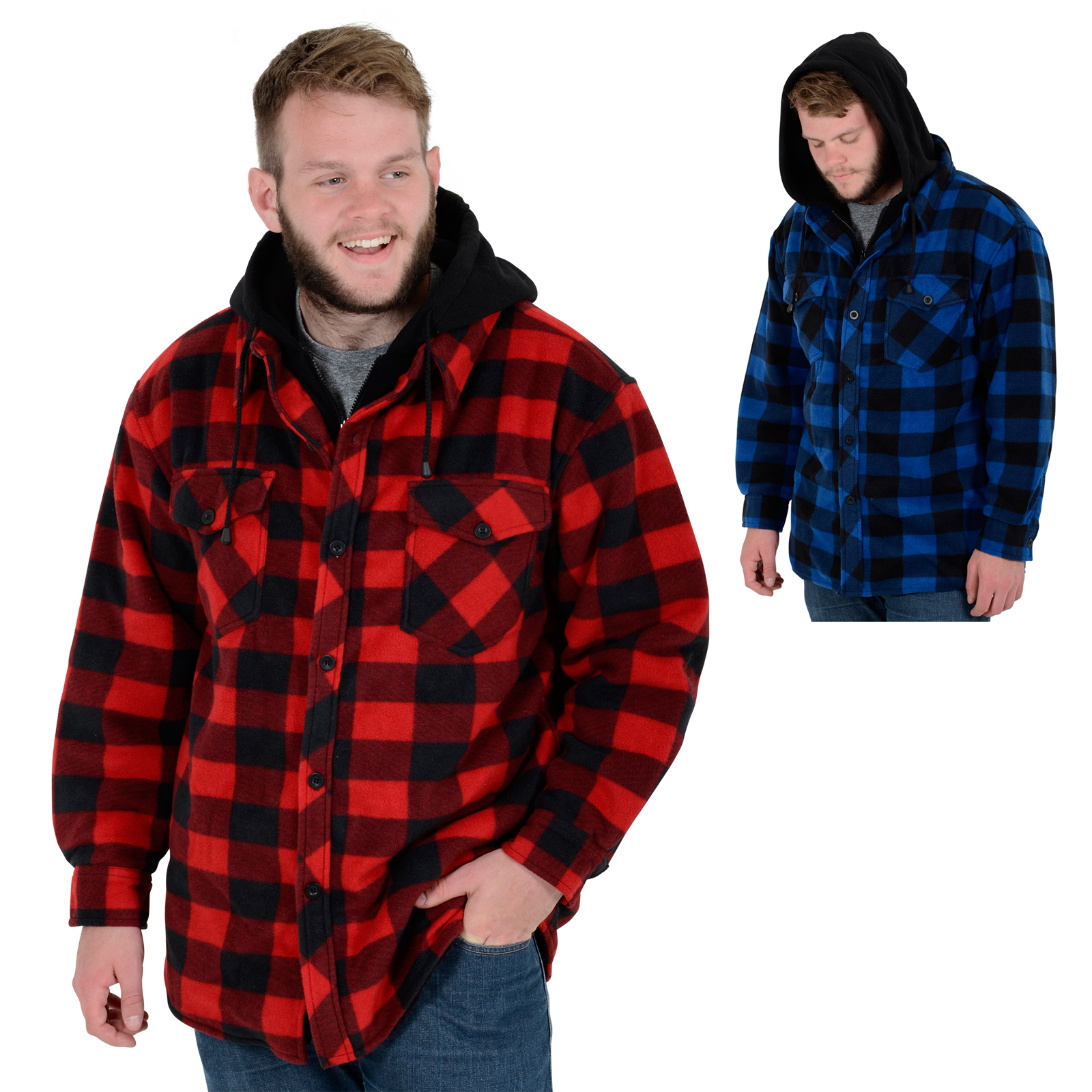 Mens Alaska Check Fleece Lumberjack Winter Gents Casual Work Shirt ...