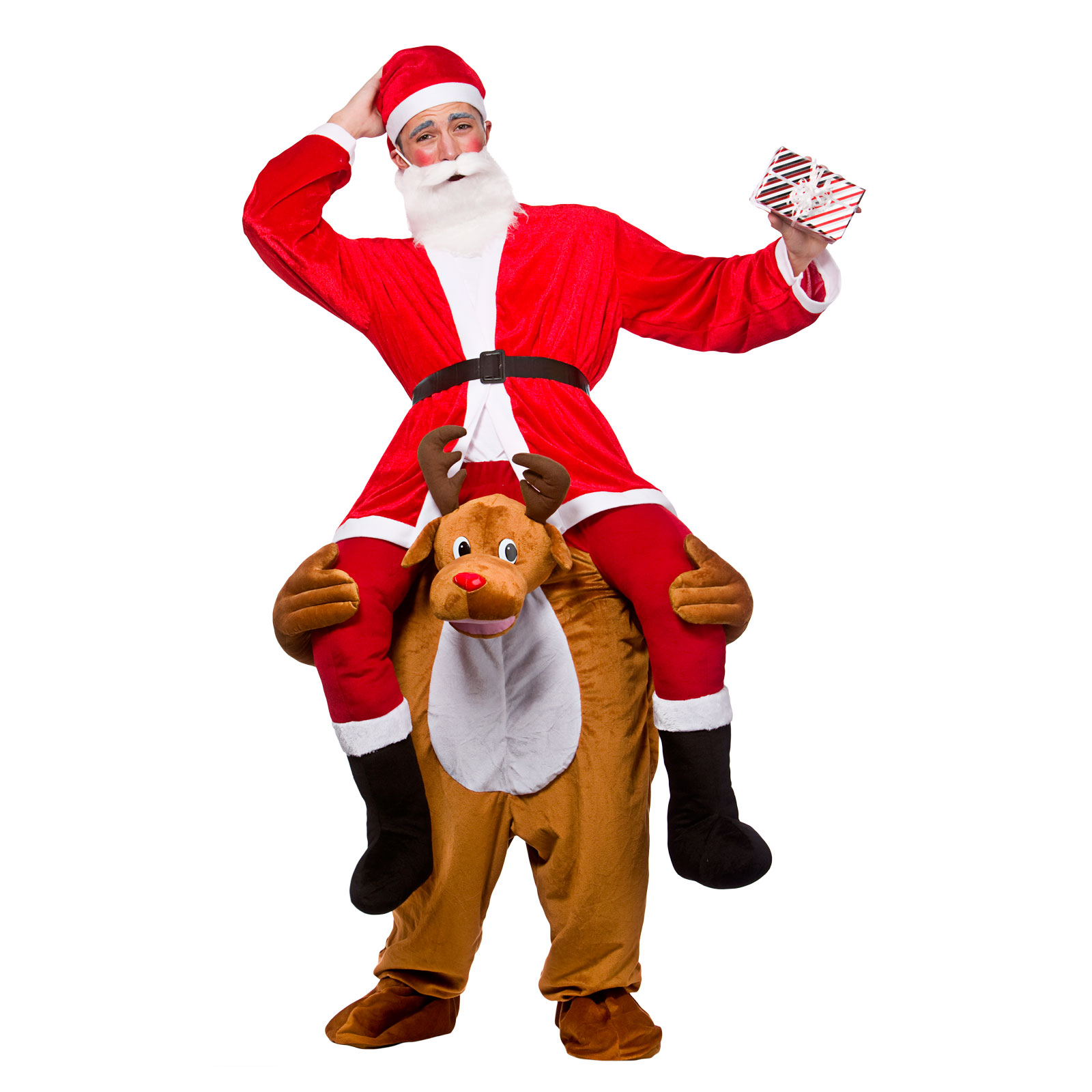Dress up xmas party - Adults Carry Me Reindeer Festive Christmas Fancy Dress Up Party Mascot Costume