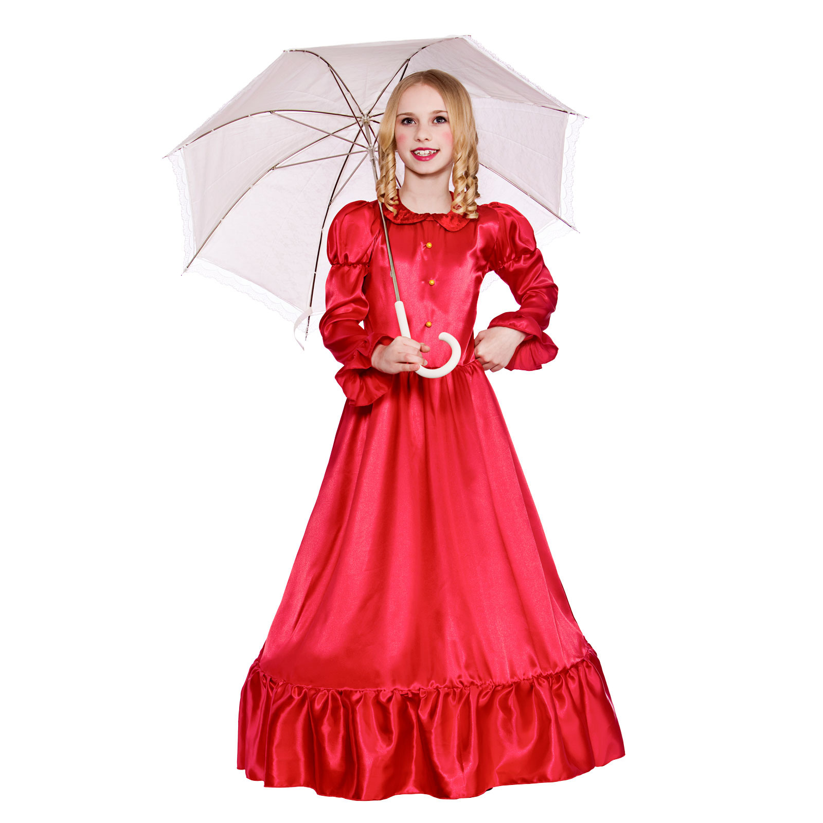 Victoria Costume: Girls Deluxe Victorian Lady Fancy Dress Up Party Costume