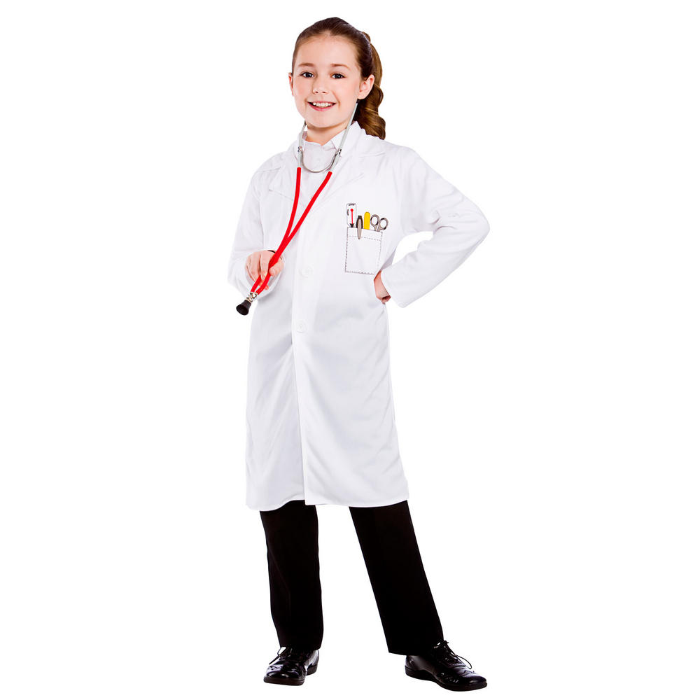Childrens Doctor Coat Fancy Dress Costume