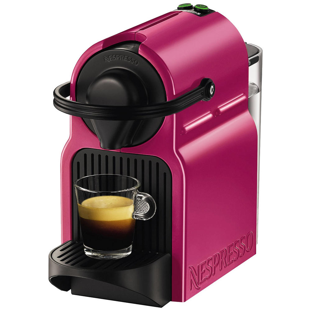krups fuchsia pink nespresso inissia coffee capsule machine. Black Bedroom Furniture Sets. Home Design Ideas