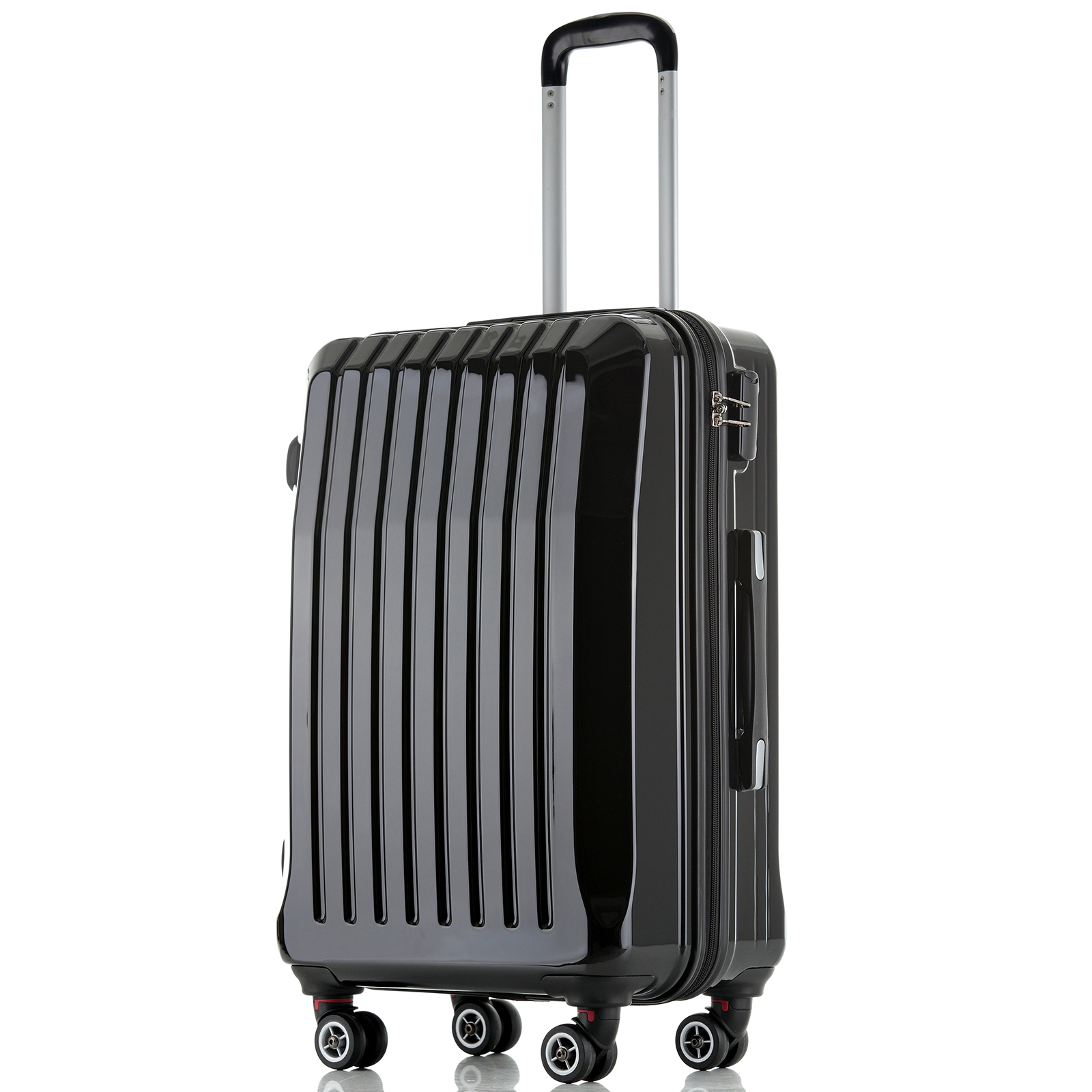 Hard Shell ABS Trolley Case 4 Spinner Wheels Suitcase Luggage ...
