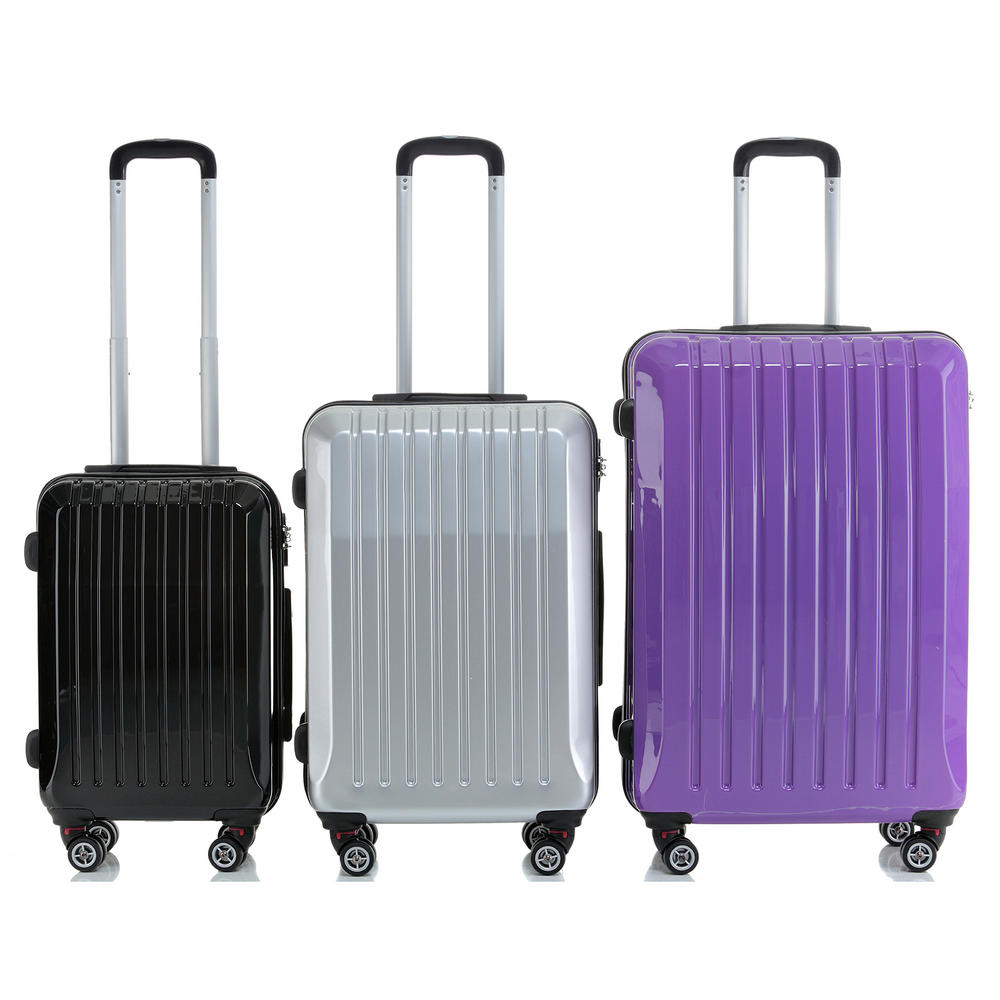 hard shell abs trolley case 4 spinner wheels suitcase luggage. Black Bedroom Furniture Sets. Home Design Ideas