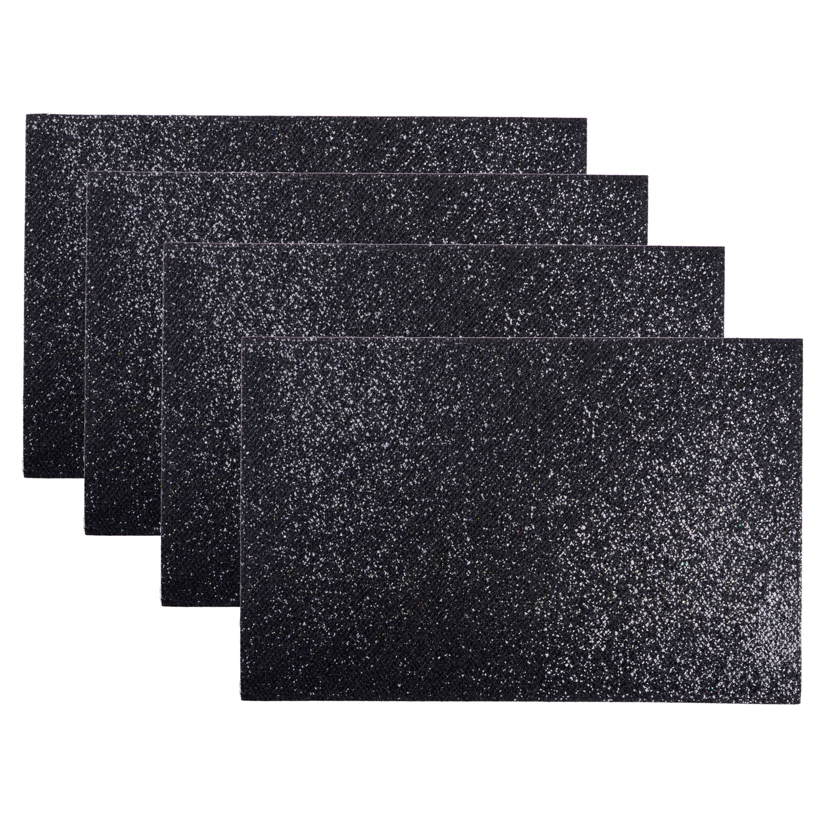 Set Of 4 Coasters Place Mats Dining Tableware Glitter