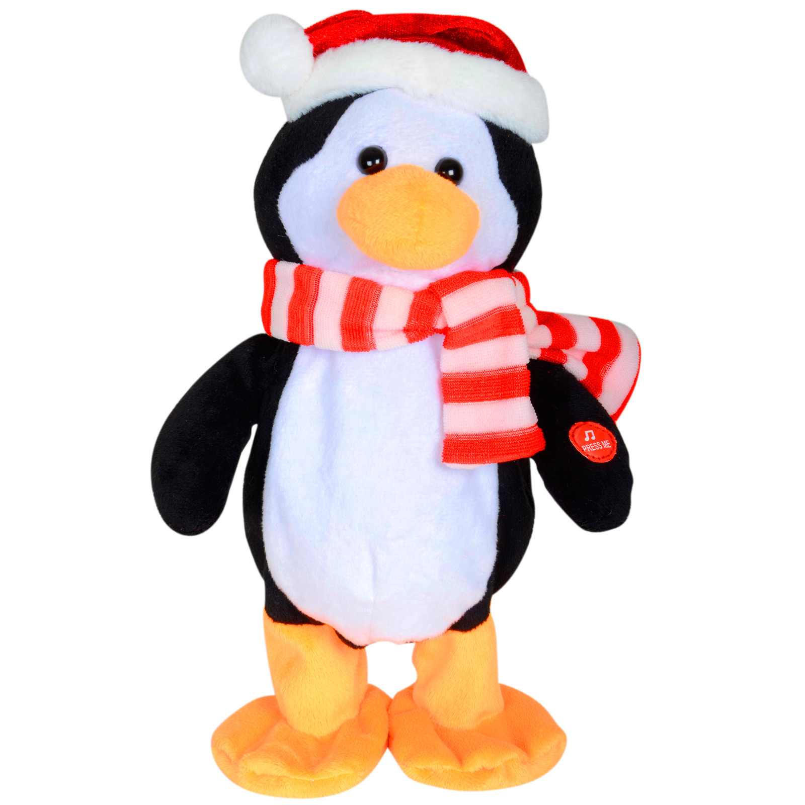 Animated plush dancing musical penguin christmas for Animated decoration