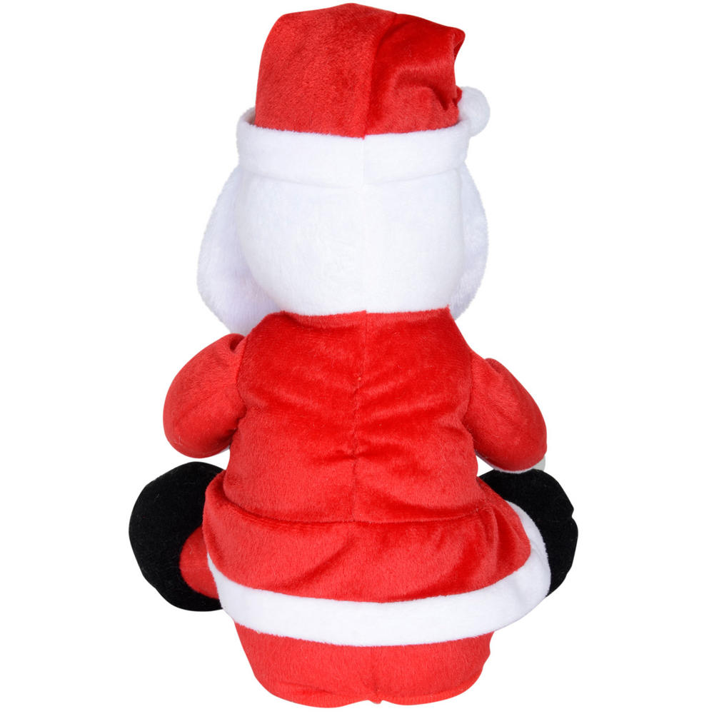 Animated plush dancing musical rapping santa claus for Animated santa claus decoration