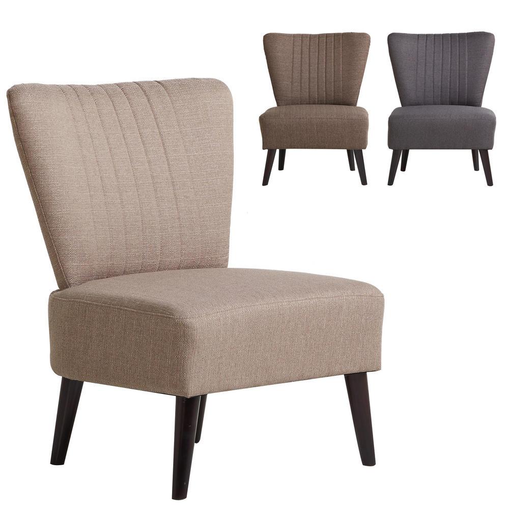 Sophia Bedroom Chair Woven Fabric Wood Frame Sofa Seat