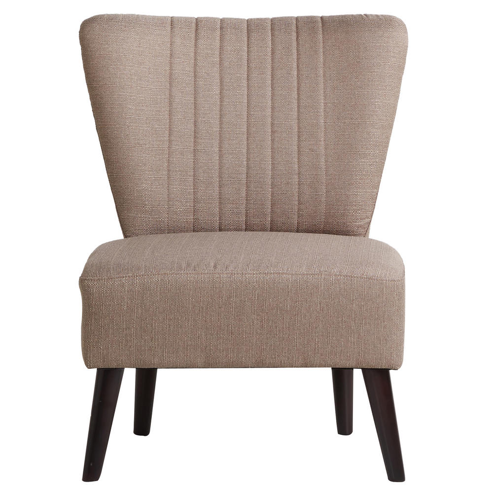 Sophia Bedroom Chair Woven Fabric Wood Frame Sofa Seat