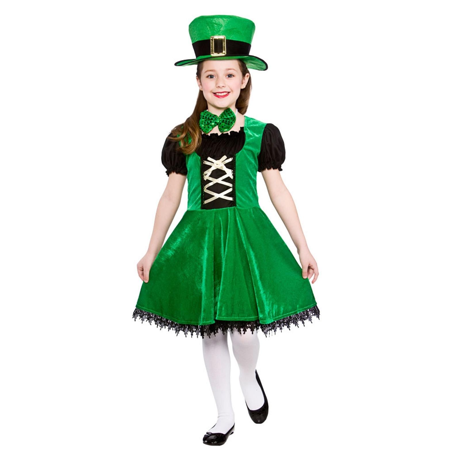 Girls Deluxe Leprechaun Irish St Patricks Day Halloween