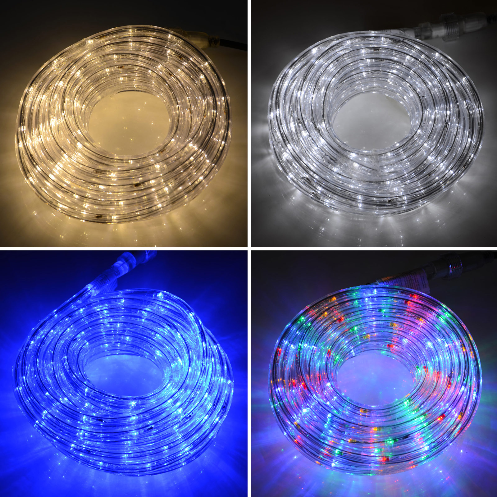 Led rope light power cable indoor or outdoor christmas lighting