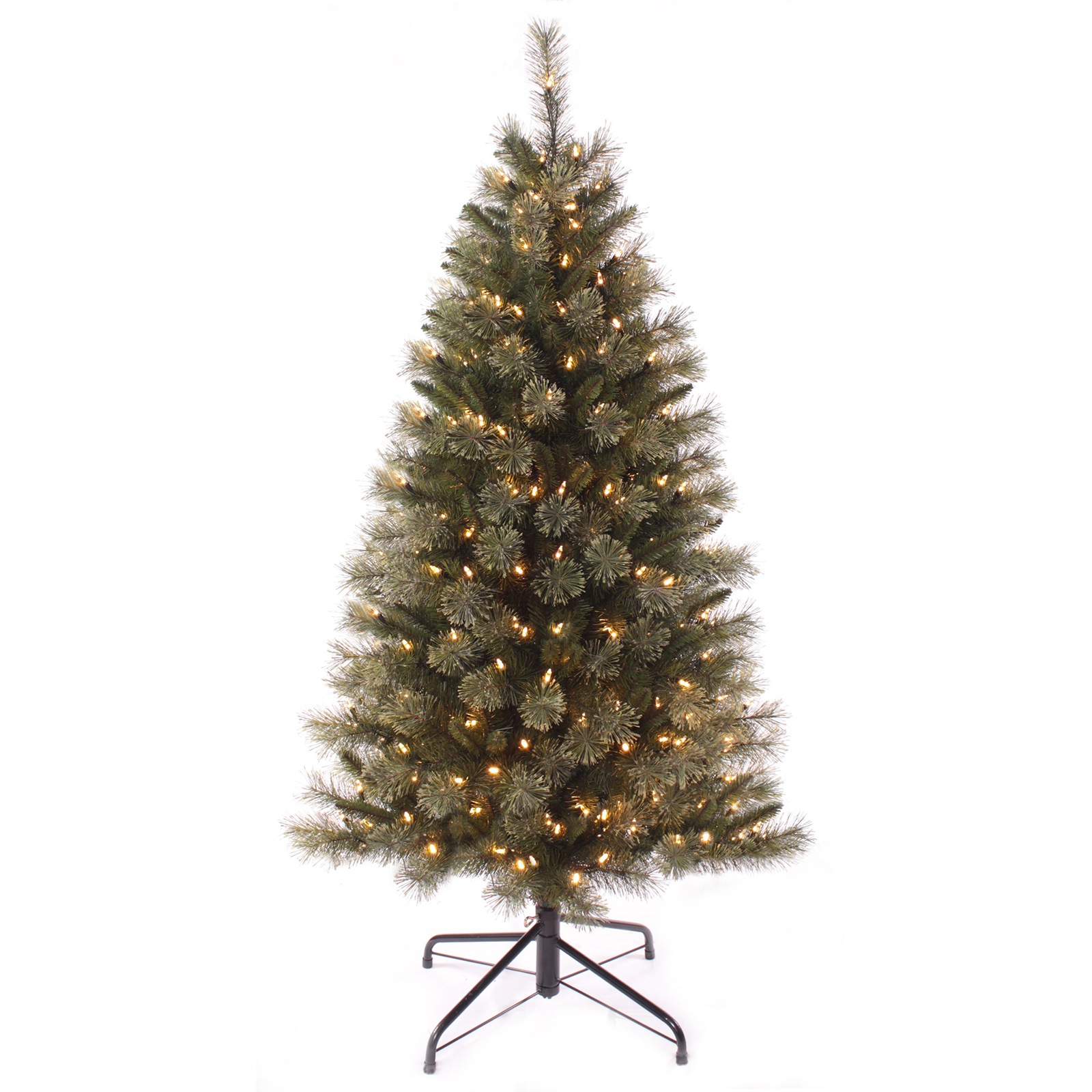 5ft pre lit christmas tree with warm white led lights artificial xmas decoration ebay. Black Bedroom Furniture Sets. Home Design Ideas