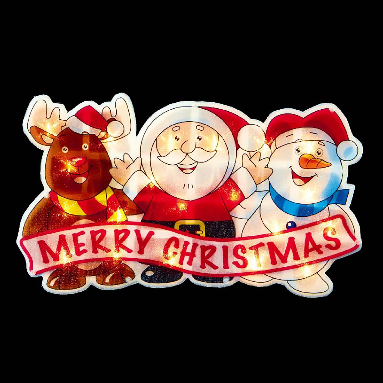 Battery Operated Light Up Rudolf Santa Snowman Christmas