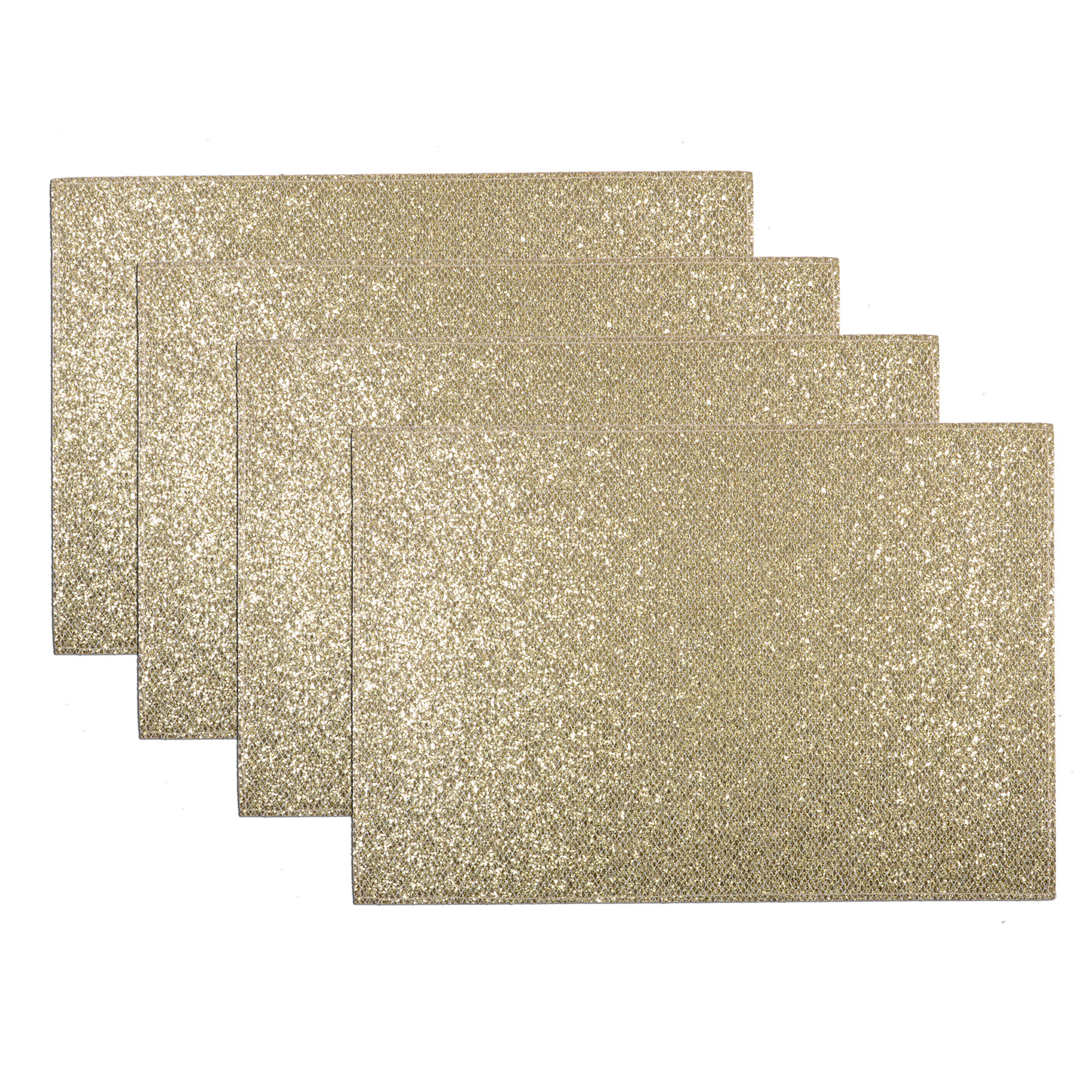 Set Of 4 Christmas Sparkly Glitter Place Mats Dinner Table  : XS39735fGlitter5fGold5f4 from www.ebay.co.uk size 1600 x 1600 jpeg 758kB