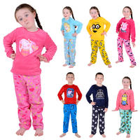 Childrens Girls Boys Fleece Pyjama PJ Nightwear Set