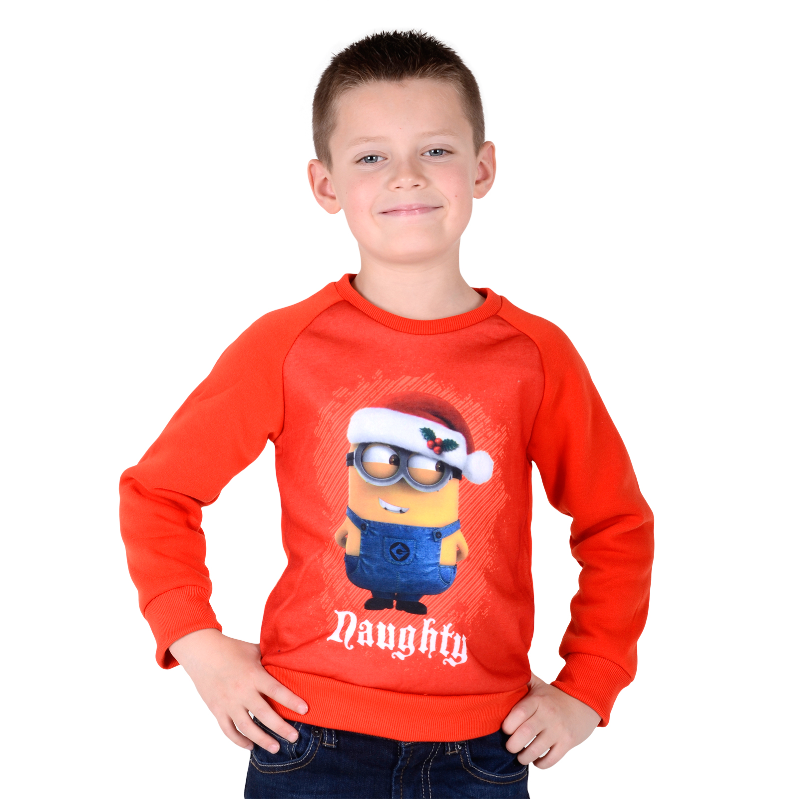 kids christmas xmas jumper boys girls sweater despicable. Black Bedroom Furniture Sets. Home Design Ideas
