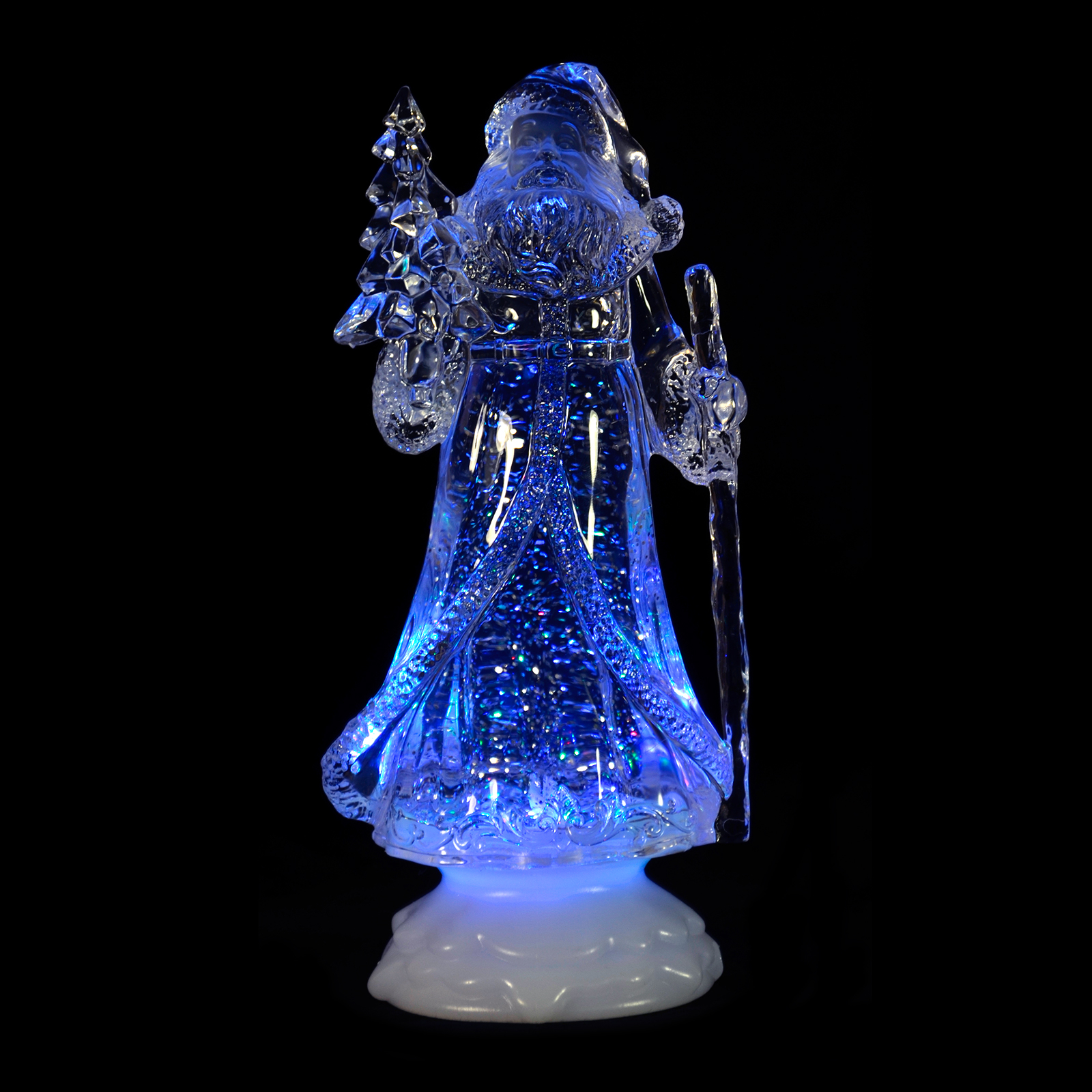 Colour Changing Led Light Up Glitter Water Ornament