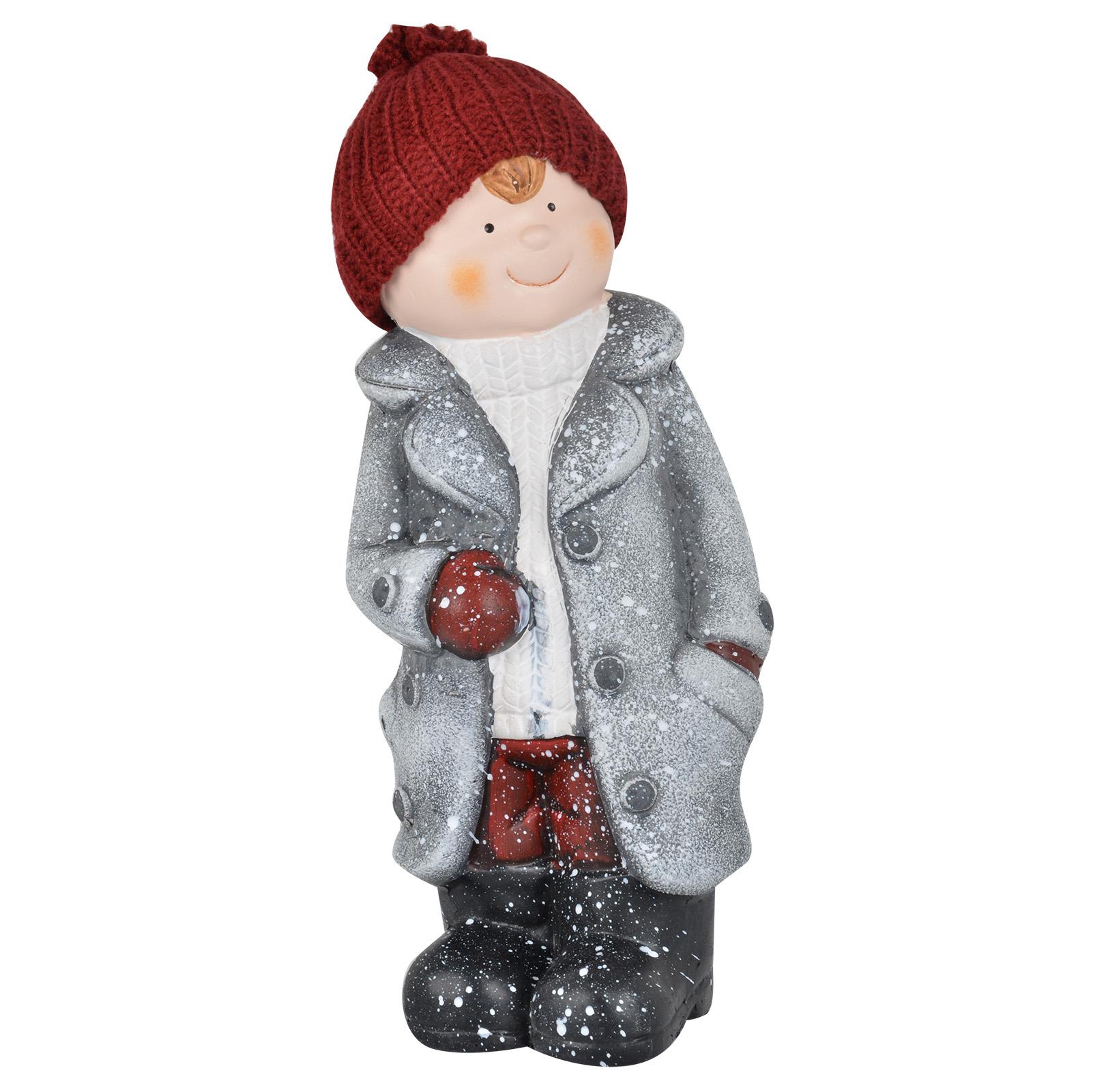 Ceramic Light Up Christmas Tree Uk: Ceramic Christmas Collectible Boy/Girl Figurines Indoor