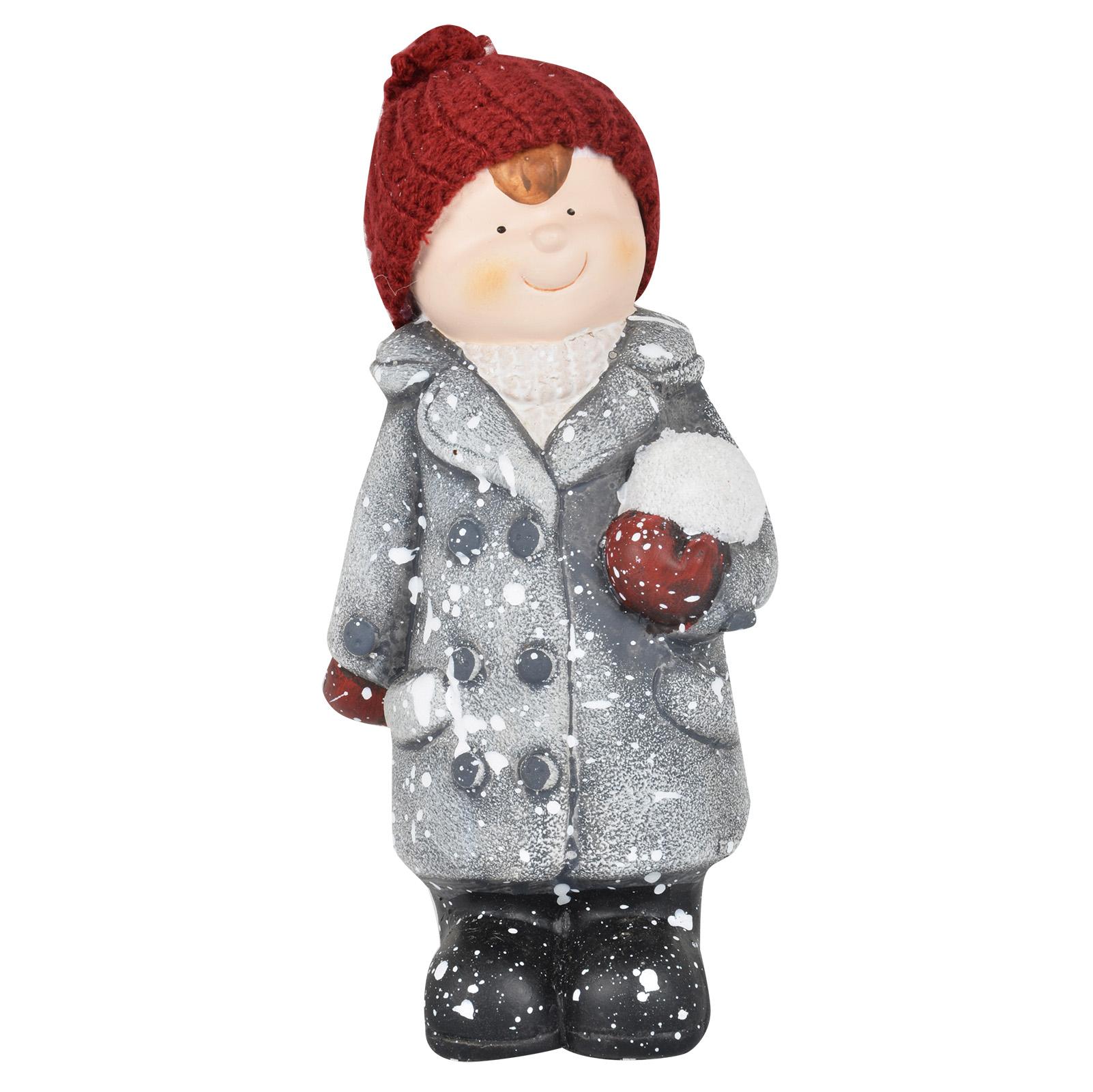 Ceramic christmas collectible boy girl figurines indoor