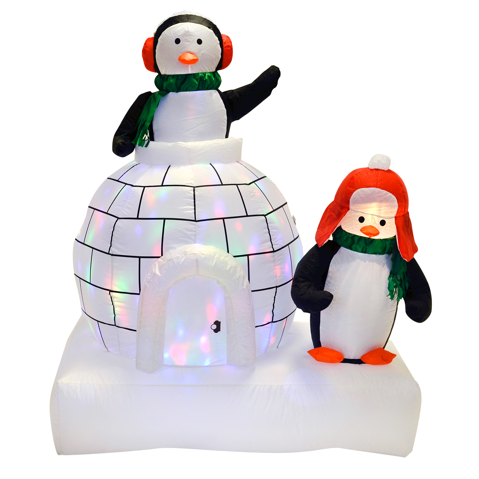 Inflatable Penguins And Igloo Christmas Decoration Garden