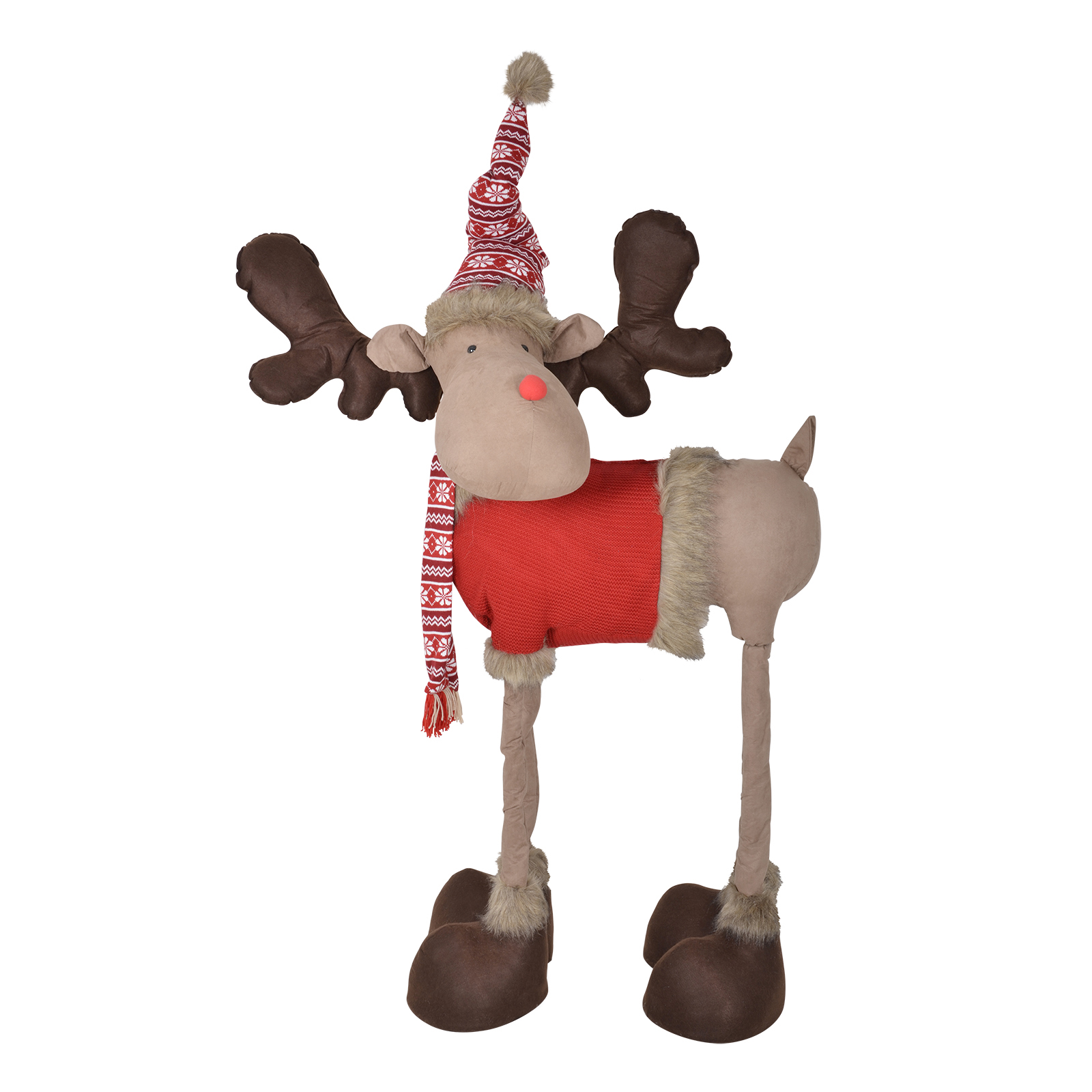 Giant indoor 4 legged reindeer christmas xmas display for Christmas deer decorations indoor