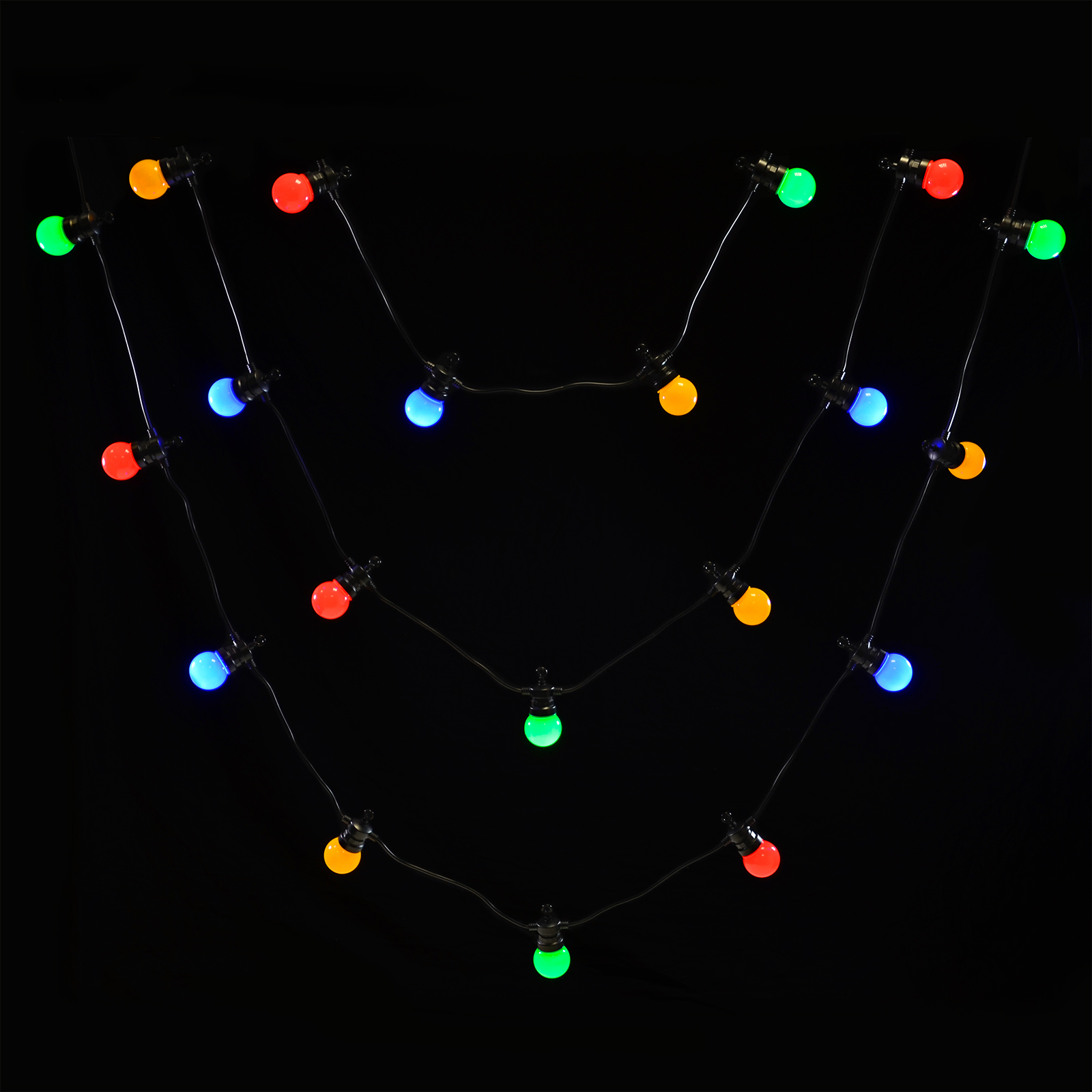 Outdoor Led Bulb String Lights : 20 Connectable LED Christmas Party Outdoor String Lights Static Round Globe Bulb