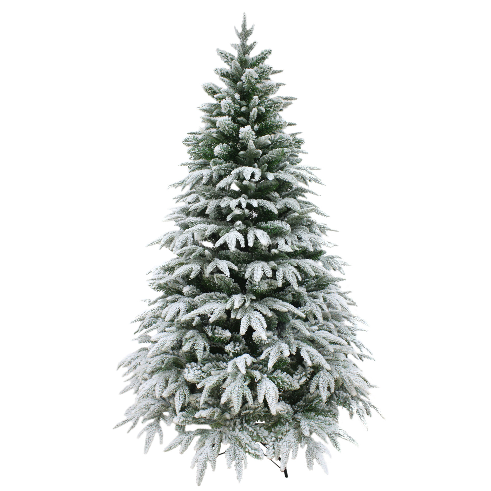 Luxury snow tipped christmas tree artificial pine indoor for Artificial christmas decoration tree
