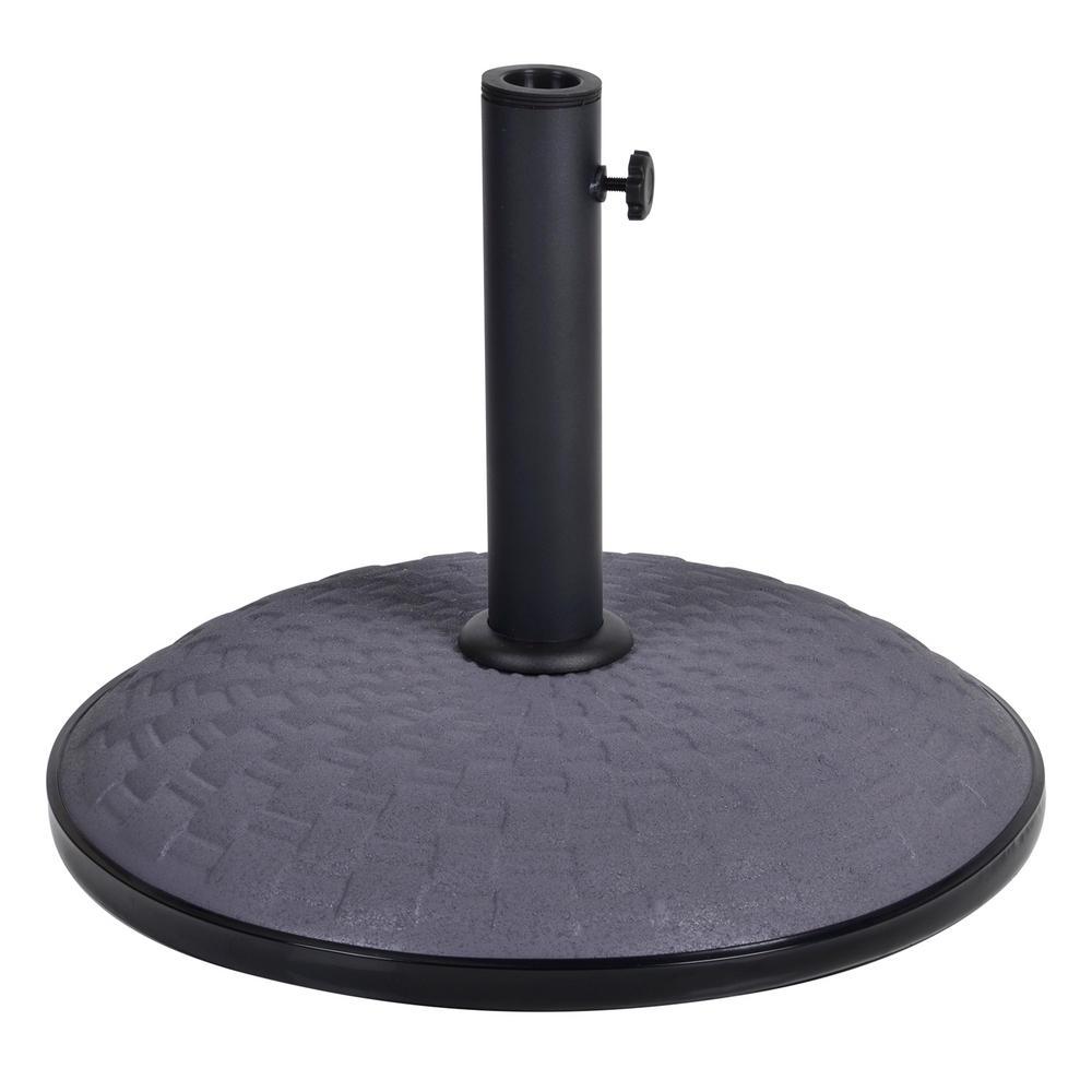 25kg grey concrete garden parasol base round umbrella stand. Black Bedroom Furniture Sets. Home Design Ideas