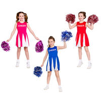 Girls Cheerleader Halloween Fancy Dress  Kids Costume