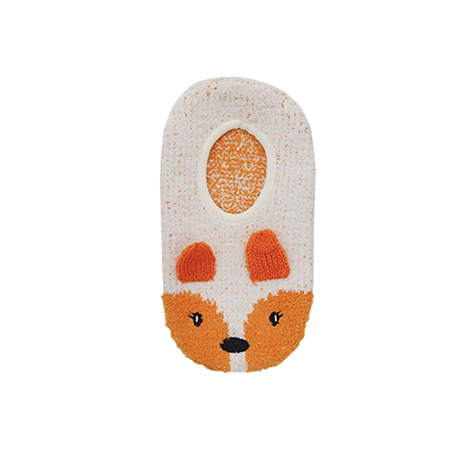Foxbury Novelty Womens Slipper Socks Animal Design Non-Slip Sole 3D Ears Stretch