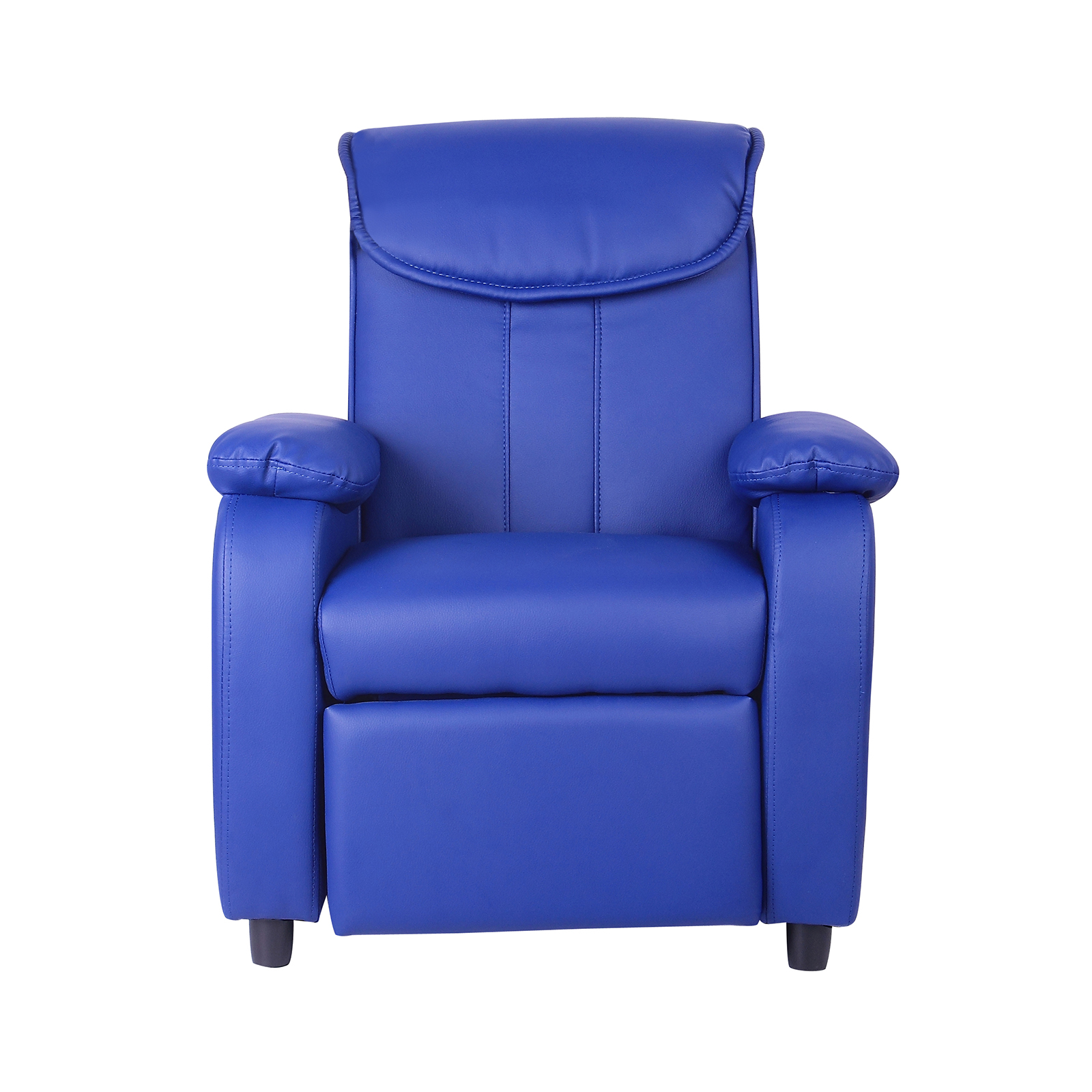 Childrens Luxury Recliner Chair Comfy Faux Leather