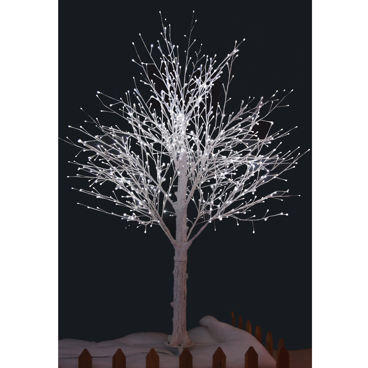 Outdoor twig lights outdoor lighting ideas 210cm white snow decorated twig tree with led lights aloadofball Gallery