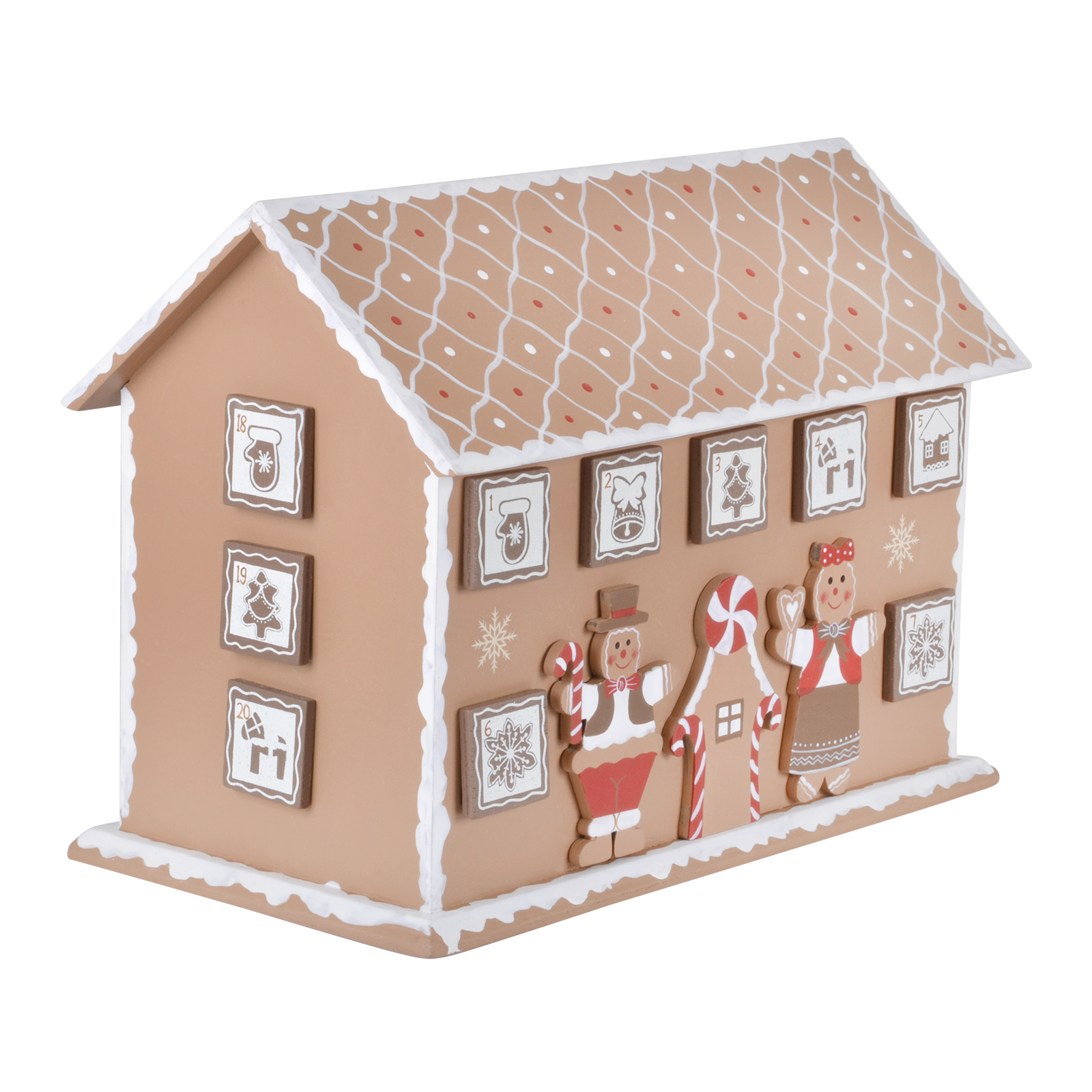 Traditional Wooden Advent Calendar With 24 Windows And Drawers Various ...