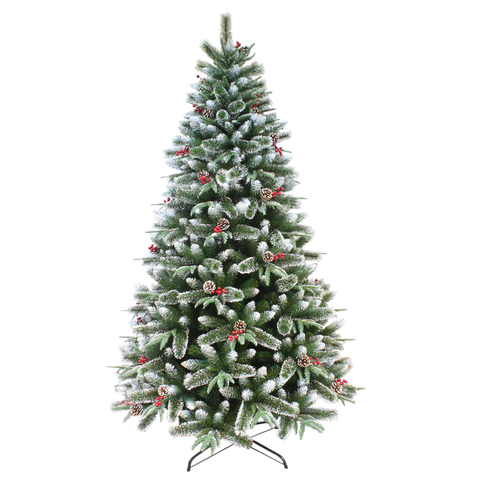 artificial mixed pine indoor xmas tree with snow frosted. Black Bedroom Furniture Sets. Home Design Ideas
