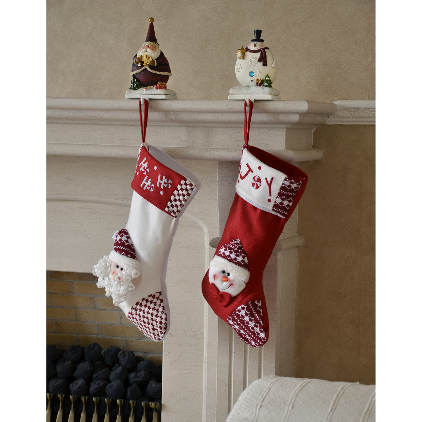 Snowman christmas stocking holder these men