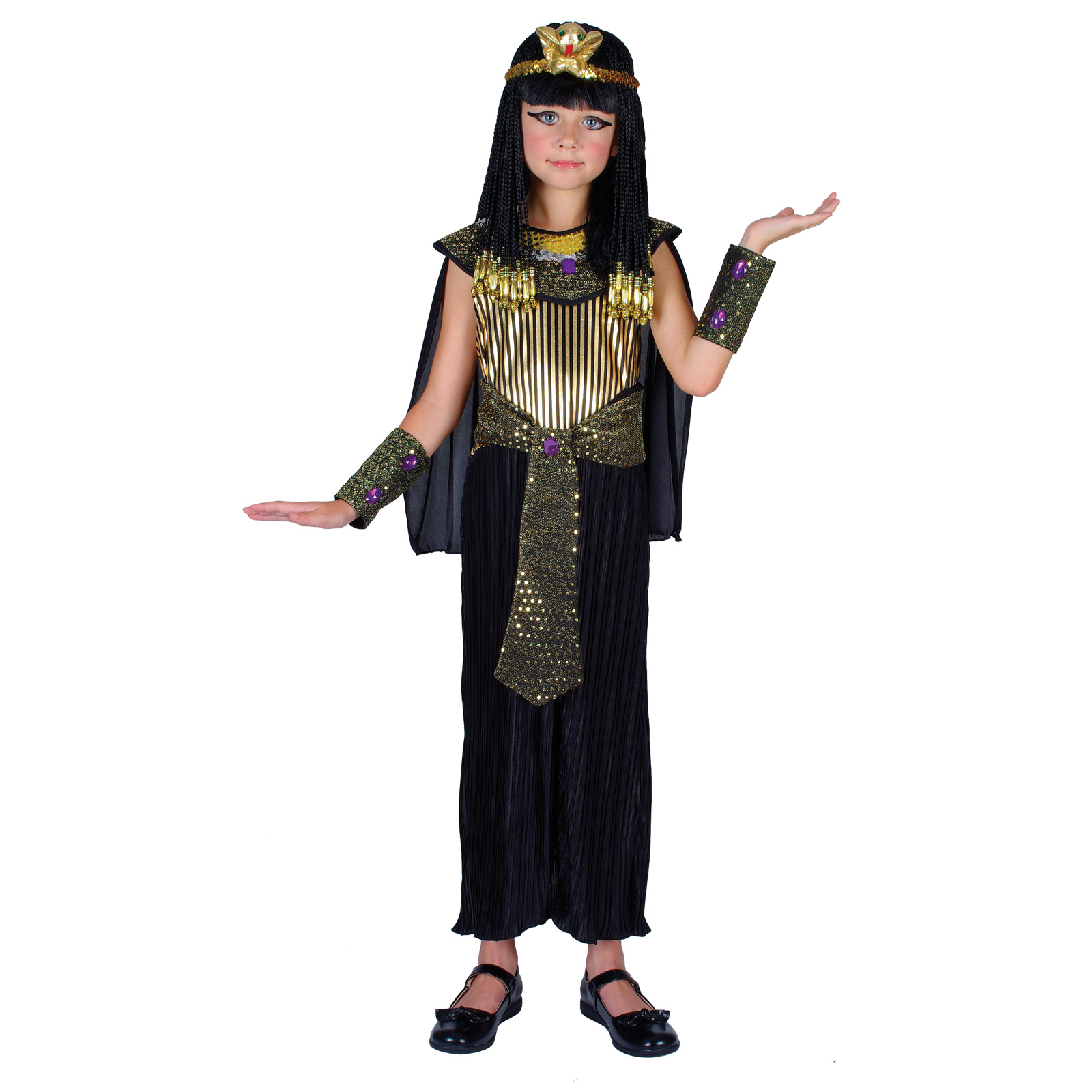Girls Egyptian Queen Cleopatra Fancy Dress Halloween Costume