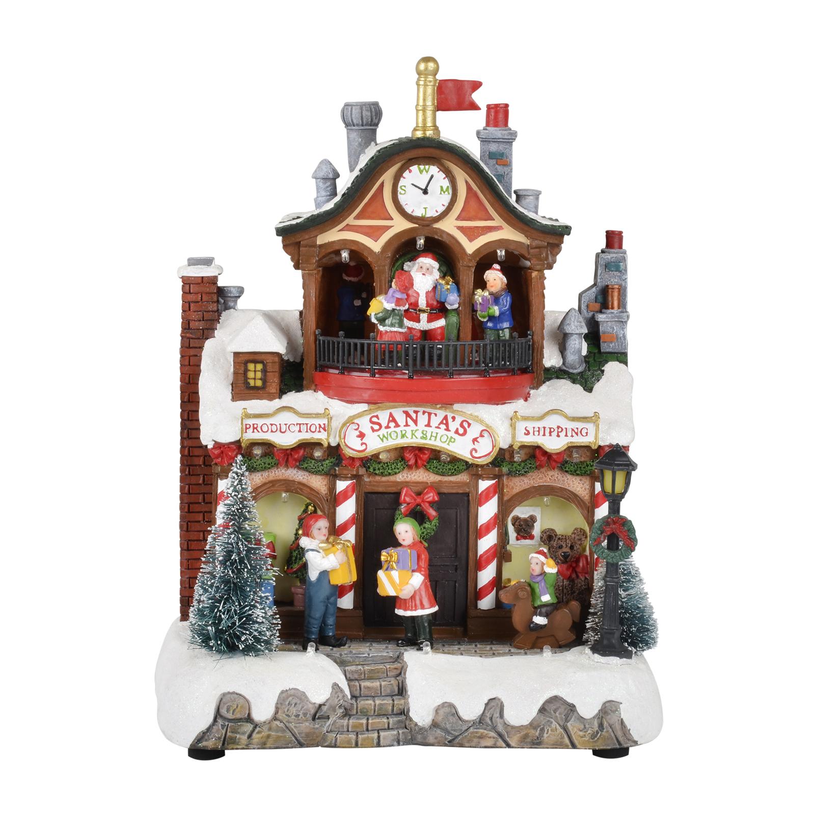 Christmas decorations uk international delivery : Xmas santa work clock led decoration christmas crimbo