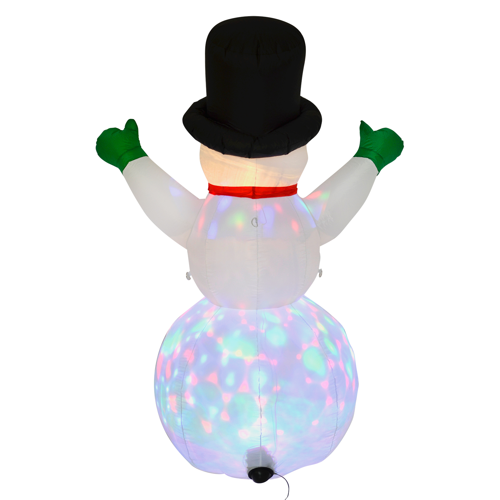 Xl 6ft inflatable snowman outdoor decoration light up led for Outdoor light up ornaments