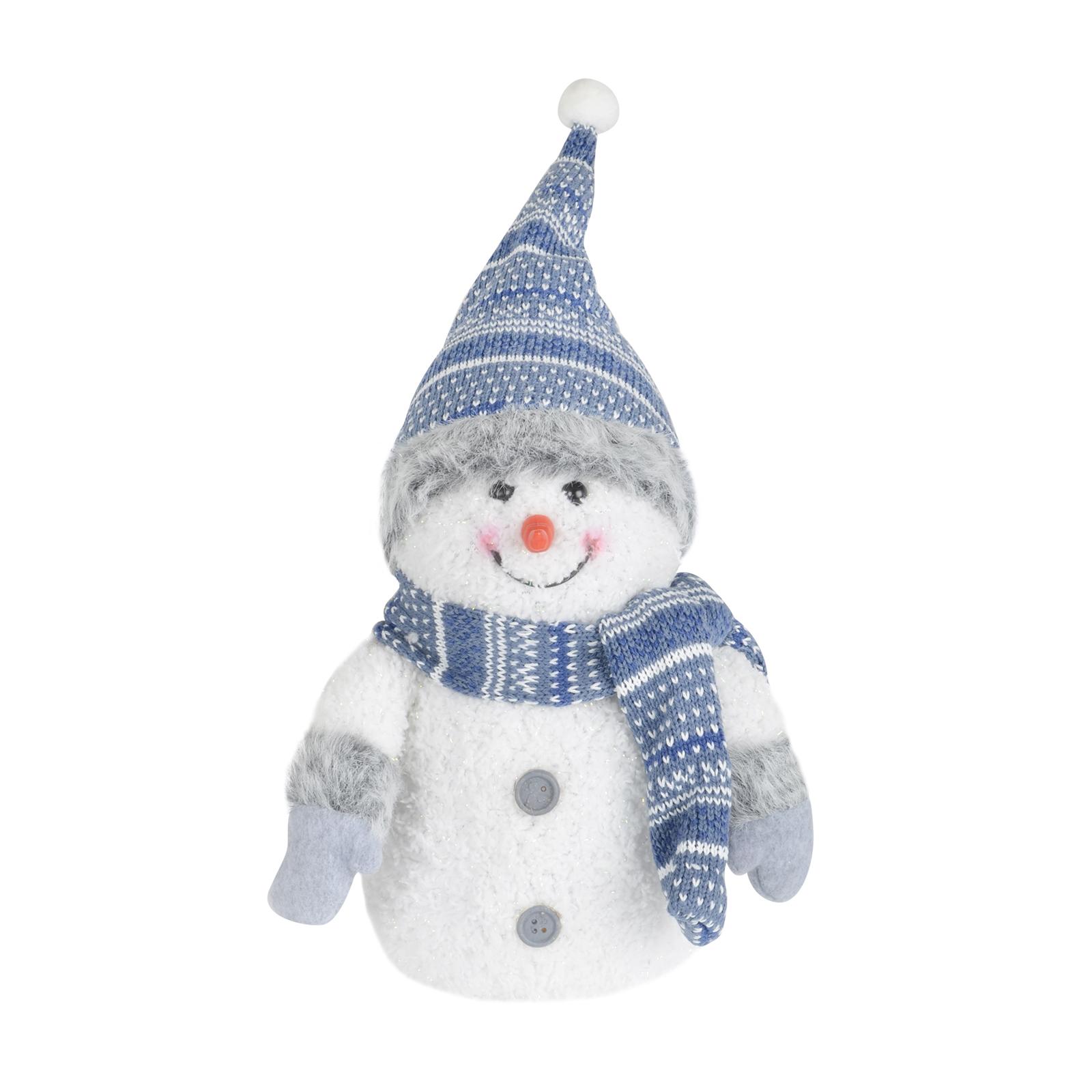 20cm led light up crimbo snowman decoration blue white for Snowman decorations