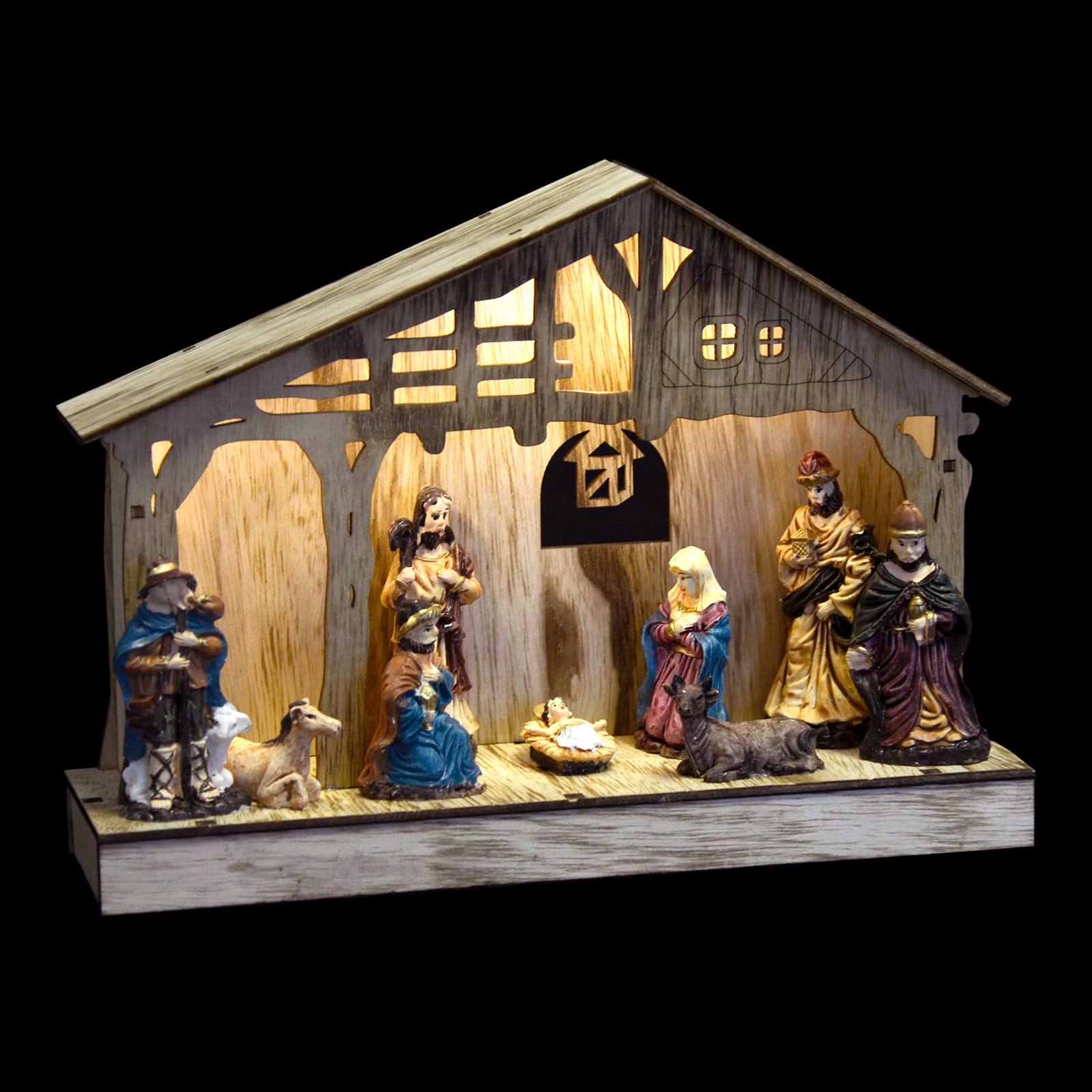 Top 28 Nativity Up Decoration Wooden Led Light Up
