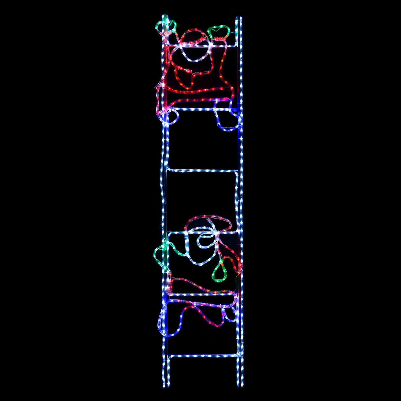 Santa Climb Ladder Animated Giant 2m LED Rope Light Xmas