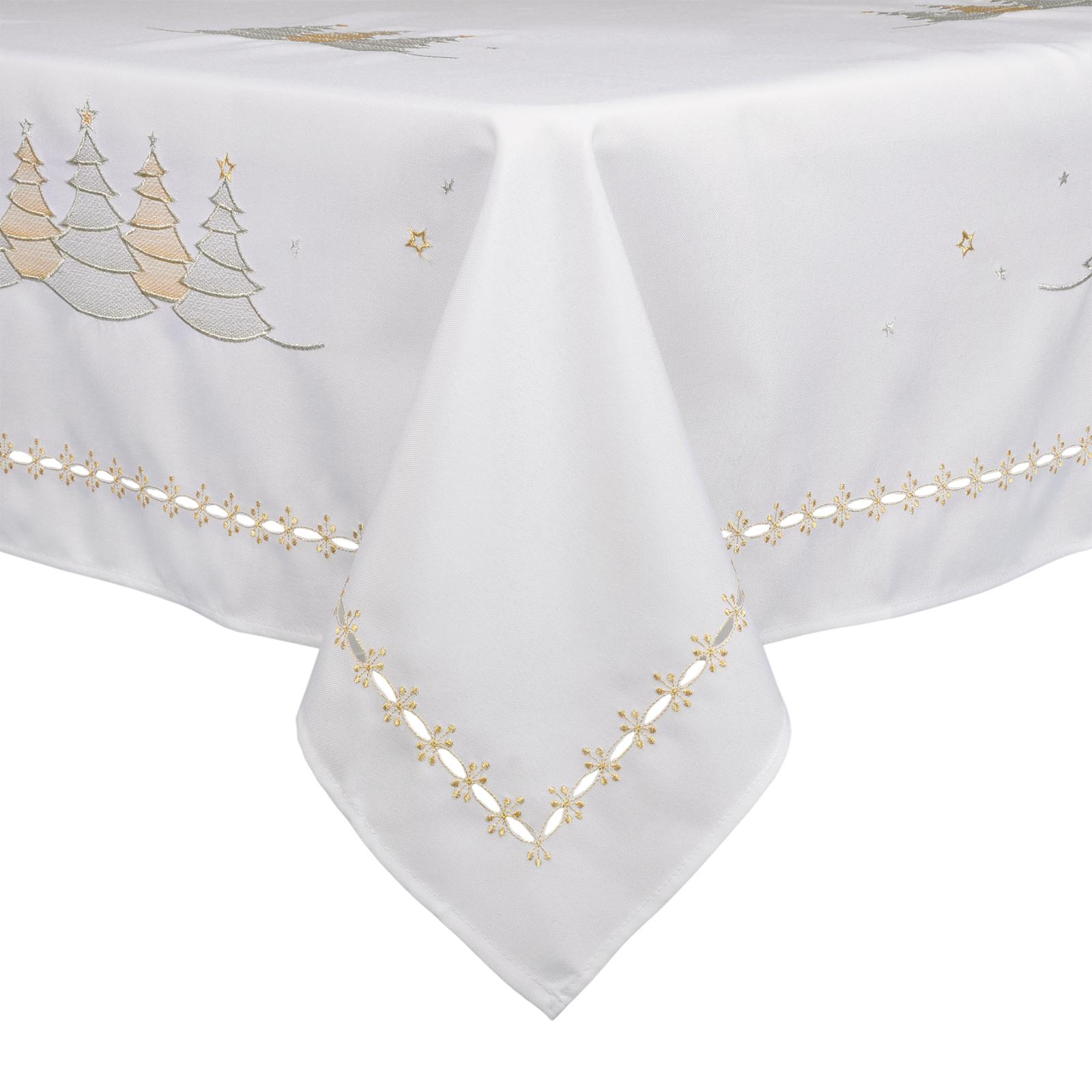 White Christmas Tree Tablecloth Festive Xmas Room  : XS4779 XS47805f1 1600 from www.ebay.co.uk size 1600 x 1600 jpeg 1060kB