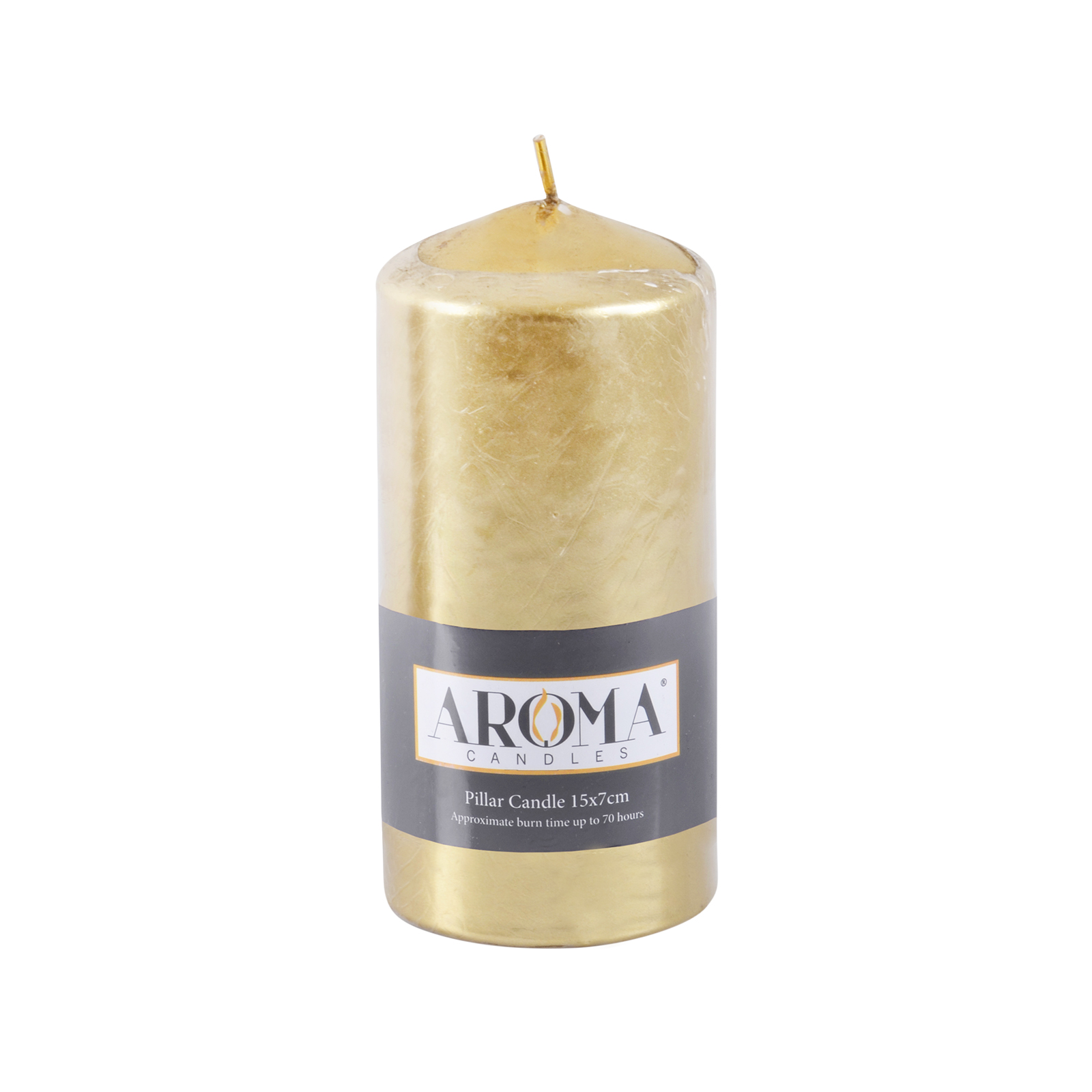 Aroma candles metallic pillar church candle unscented 2 for Shimmer pillar candle