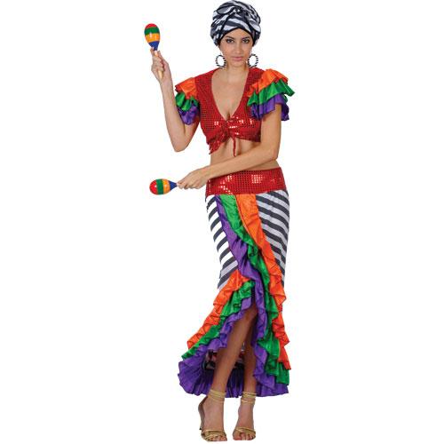 Mardi Gras Brazillian Carnival Fancy Dress Costume | eBay