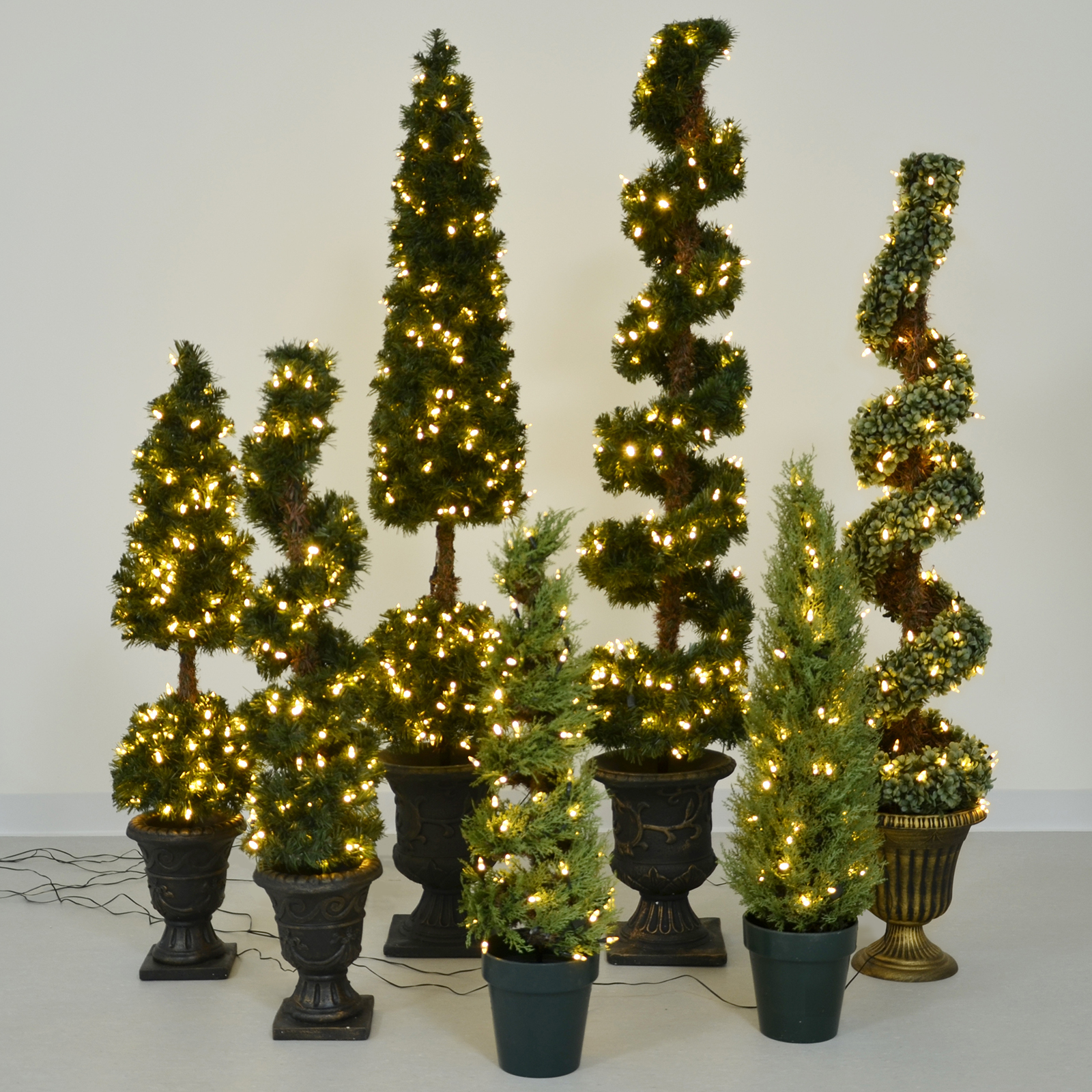 Pre-Lit Premium Artificial Topiary Tree Home Garden Patio ...