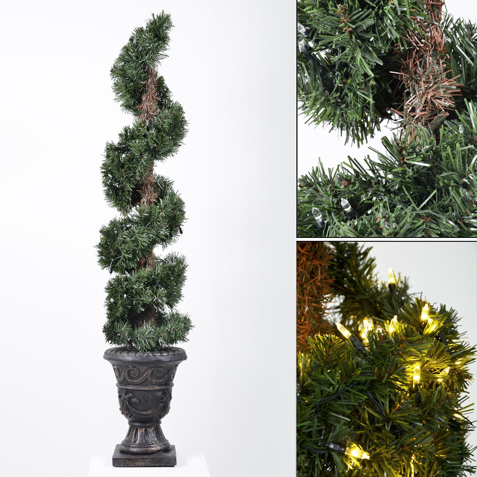 Pre lit premium artificial topiary tree home garden patio for Topiary garden designs