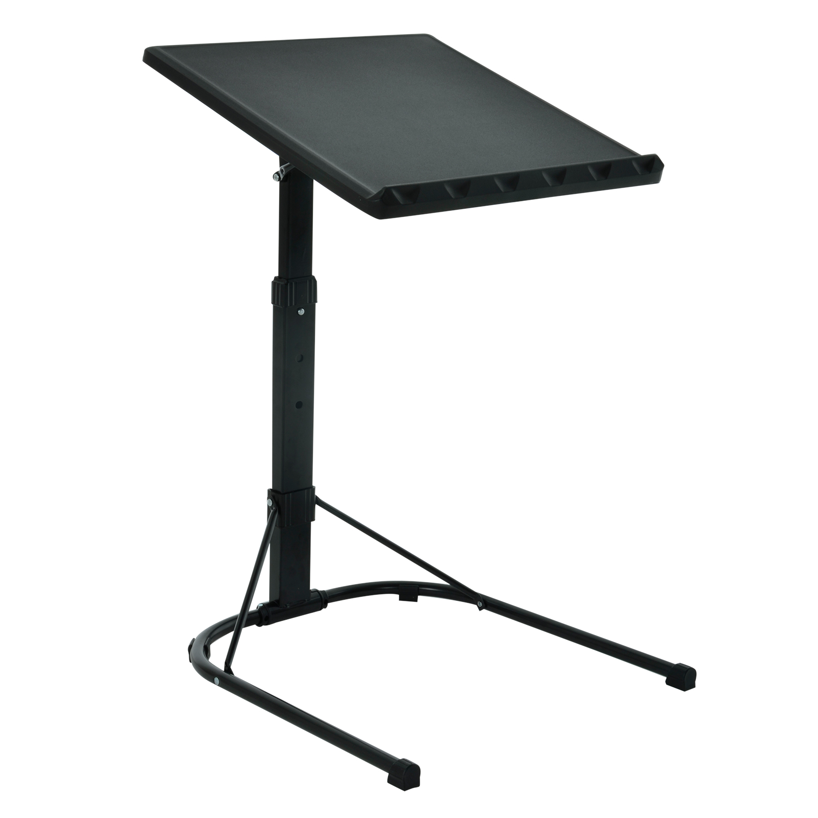 folding black laptop table adjustable height portable. Black Bedroom Furniture Sets. Home Design Ideas