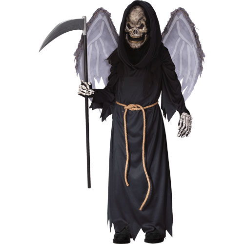 Boys Winged Reaper Fancy Dress Halloween Costume 8-10