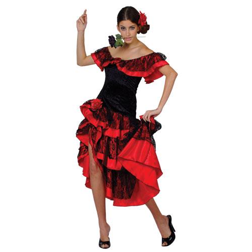 Tempting latin dancer halloween costume for women