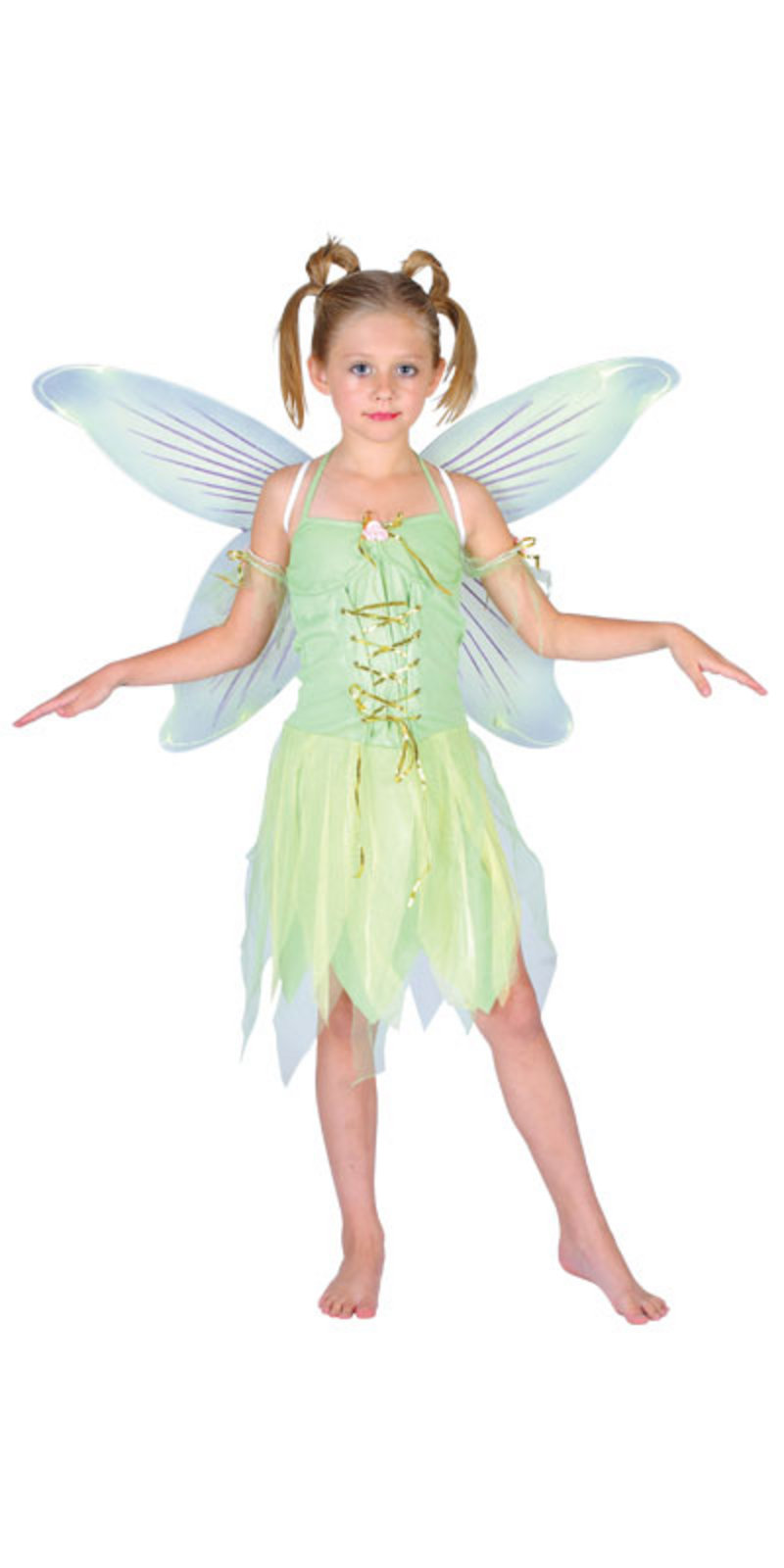 Childrens Green Tinkerbell Neverland Fairy Girls Fancy ...