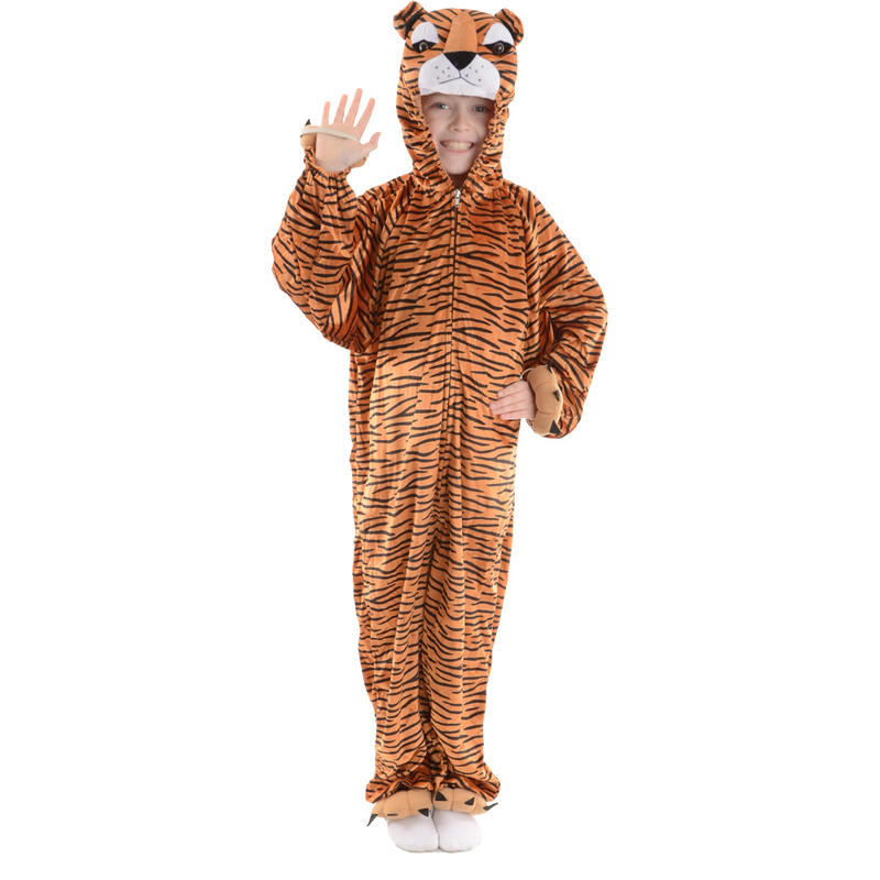 Animal Fancy Dress Costume Children's Boogie Woogie Tiger Ages 3-13 Sizes Small-XXLarge Preview